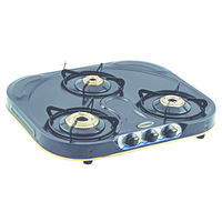 Sunshine Skytech 'C' Coated Three Burner Powder Coated Gas Stove, png, manual