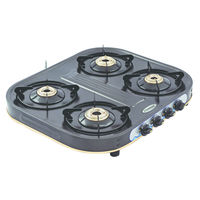 Sunshine Eco Dlx Four Burner Powder Coated Gas Stove, lpg, manual