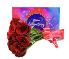 Primo Gifts Red Roses And Chocolate (PR17056)