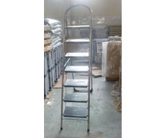 Cipla Plast Folding Ladder with Wide Steps - Milano 7 Steps Stainless Steel - GEC-L7M-SS