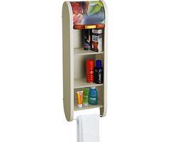 Cipla Plast Roll Top Bathroom Cabinet - Floral Ivory