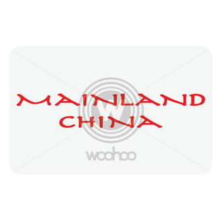 Mainland China Restaurant Gift Cards, 1000