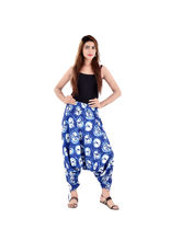 Halowishes Sanganeri Floral Printed Pure Cotton Harem Pants - 181