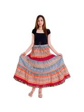 Halowishes Jaipuri Abstract Pattern Design Wrap Arround Skirt