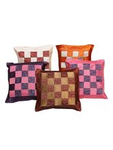 Halowishes Jacquard Fine Silk Cushion Cover 5Pc. Set - 112