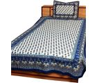 Halowishes Good looking Paisley Pattern and Floral Print Design Pure Cotton Single Bed Sheet Bedcover Single Bedsheet - 207