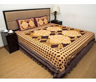 Halowishes Sanganeri Printed Pure Cotton Double Bed Sheet