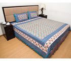 Halowishes Jaipuri Floral Print Double Bed Sheet