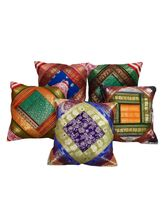 Halowishes Jacquard Fine Silk Cushion Cover 5Pc. Set - 117