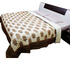 Halowishes Pure Cotton Jaipuri Floral Print Double Bed Razai -102