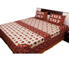 Halowishes Jaipuri Printed Abstract Pattern Pure Cotton Double Bed Sheet