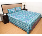 Halowishes Jaipuri Printed Pure Cotton Double Bed Sheet