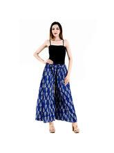 Halowishes Jaipuri Regular Fit Blue Women's Palazzo