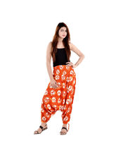 Halowishes Sanganeri Floral Printed Pure Cotton Harem Pants - 180