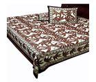 Halowishes Beautiful Pure Cotton Jaipuri Gold Print Design Double Bed Sheet Home Furnishing -118