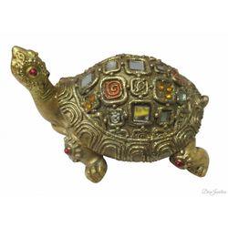 (DECO JUNCTION) Turtle, metal, golden, 5.5cm