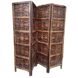 Aarsun Woods: WOODEN PARTITION / ROOM DIVIDER IN FLORAL PATTERN, wood, brown, 35kgs
