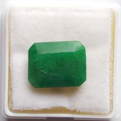 RUDRA GEMS Emerald Gemstone, oval faceted, 15.20 12.25 6.25mm, 7.77cts 8.63ratti