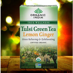 Organic India Tulsi Green Tea Lemon Ginger 18 TB