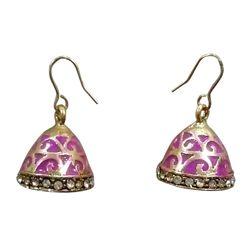 Deco Junction Jaipuri Style Purple Colur Small Jhumki Alloy Metrial 2cm, 2, purple