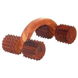 Batra's Wooden Acupressure Arched Spiked, brownish, 400 gms, 9 7 6