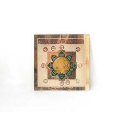 Shubhpuja Shree Ram Raksha Siddha Yantra gold plated, 450