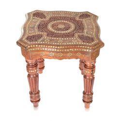 Batra's Hand Made Multipurpose Table, brownish, 4 kg, 18 18 18