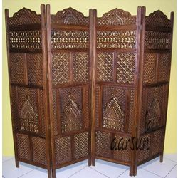 Aarsun Woods: WOODEN PARTITION SCREEN / ROOM DIVIDER-0171, wood, brown, 35kgs