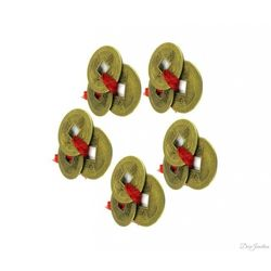 (DECO JUNCTION) Feng shui Coin set of 5, brass, copper, 2x2x2