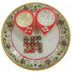 Deco Junction Pooja Thali - 6 Inch - Deco Junction, marble, 8, 8