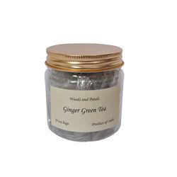 Wood & Petals Darjeeling Green tea with Ginger, 10 tea bags