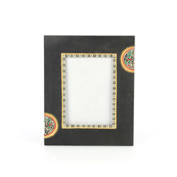 VarEesha Black Handpainted Photoframe, 300 g, black, 8x0.5x10
