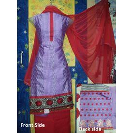 Mamta - 1129MT06RMSK - Kora Silk Suit