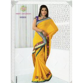 Exclusive sobar embroidery Sarees - S006SB16BRRE