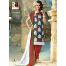 COTTON EMBROIDERY RAFTAAR SUIT - SH03LMRE