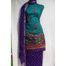 Sartin Bandhej Suit- 1261SM19MOHK