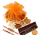 Creativity Centre Rakhi Dryfruit Basket And Chocolate Hamper