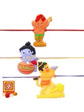 Creativity Centre Set Of Three Kids Rakhi Set