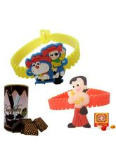 Creativity Centre Set Of 2 Kids Rakhi Set N Chocol...