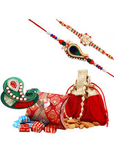 Creativity Centre Dryfruit Rakhi Hampers With Chocolates And Almonds