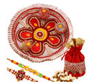 Creativity Centre Special Rakhi Thali With Assorted Dryfruits