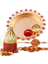 Creativity Centre Golden Charm Rakhi Thali With Dr...