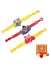 Creativity Centre Set Of Three Kids Rakhi Band