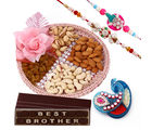 Creativity Centre Dryfruit Thali With Rakhi Hampers Chocolates