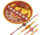 Creativity Centre Elegant Tikka Thali With Four Rakhis