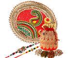 Creativity Centre Charming Rakhi Thali And Dryfruits