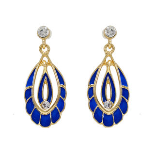 Blue And Golden Fashion Alloy Danglers