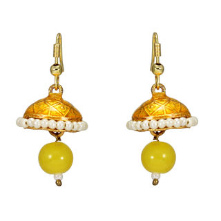 Stunning Short Length Yellow Jhumki