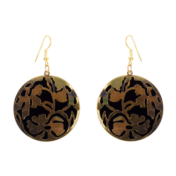 Round Shape Golden And Silver Dangler