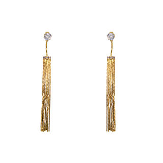 Long Golden Chain Earring For Women